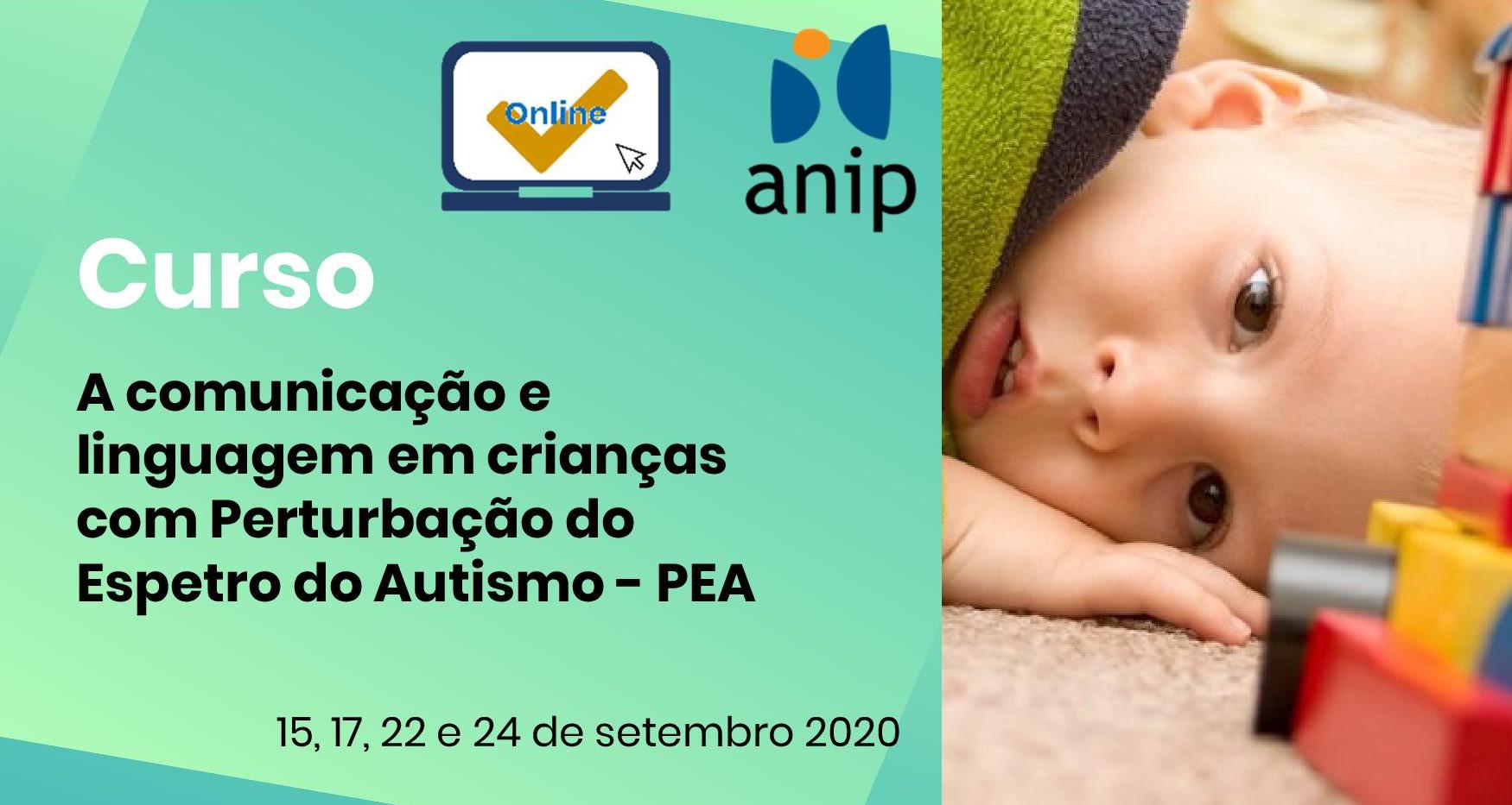 Comunicação e Linguagem em crianças com Autismo – PEA (online)